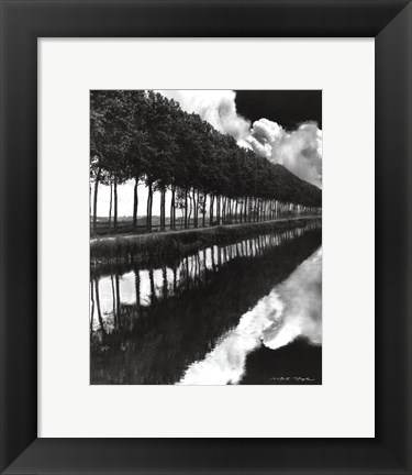 Framed Holland Canal, Sluis, Holland Print