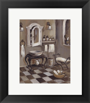 Framed French Bath IV Print