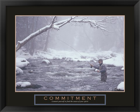 Framed Commitment - Fisherman Print