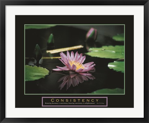 Framed Consistency - Pond Flower Print