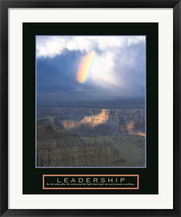 Framed Leadership - Passing Storm Print