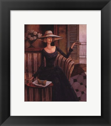 Framed Woman With Pears Print