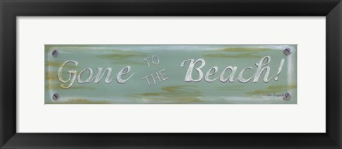 Framed Gone To The Beach Print