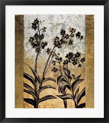 Framed Orchid Silhouette Print