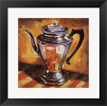 Framed Tea Pot II Print