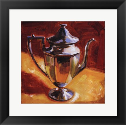 Framed Tea Pot III Print