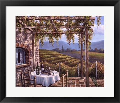 Framed Vineyard Terrace Print