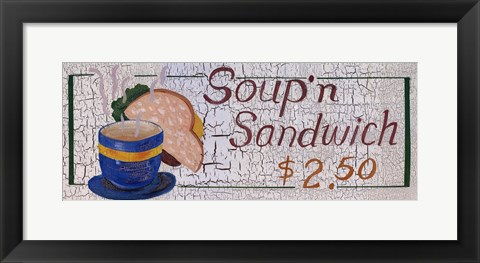 Framed Soup N Sandwich Print