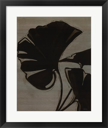 Framed Platinum Shadow IV Print