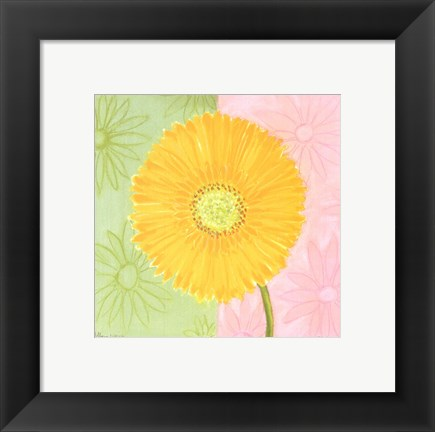 Framed Yellow Daisy Print