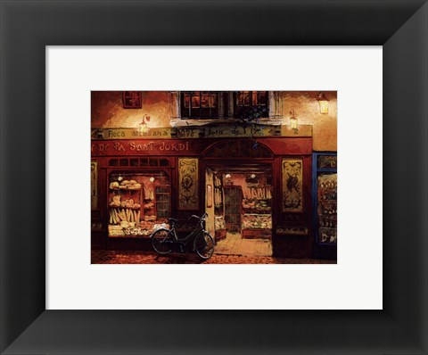 Framed Wine and Bread Print