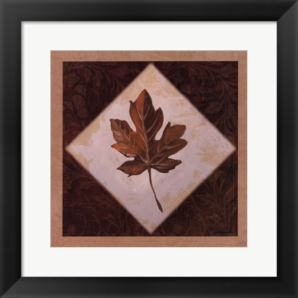 Framed Diamond Leaves I Print