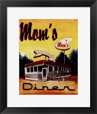 Framed Mom's Diner Print