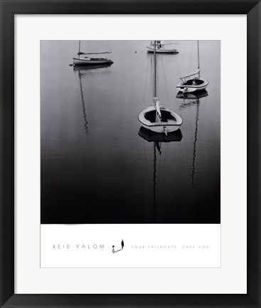 Framed Four Sailboats, Cape Cod Print