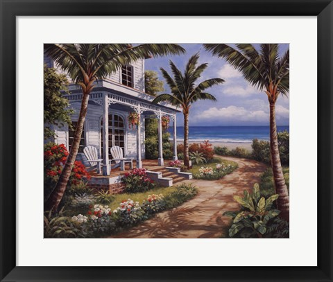 Framed Summer House I Print