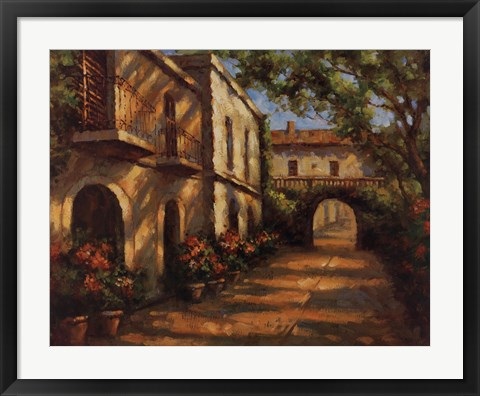 Framed Arched Passageway Print