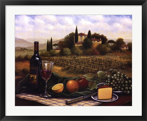 Framed Terrace At Chianti Print
