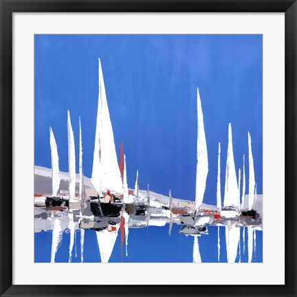 Framed Voile Blanches II Print