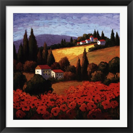 Framed Tuscan Poppies Print
