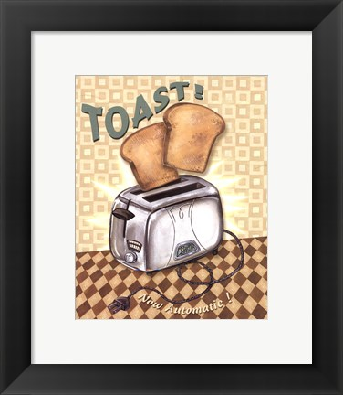 Framed Nifty Fifties - Toast Print