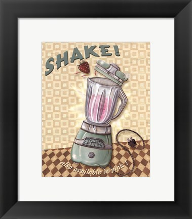 Framed Nifty Fifties - Shake Print