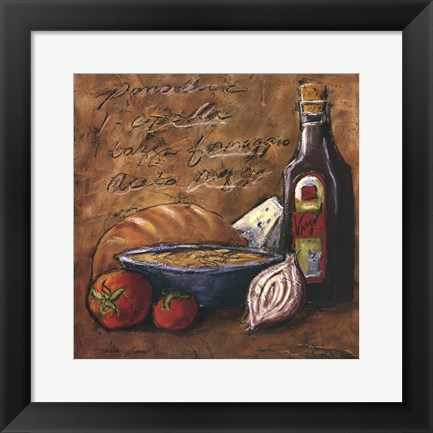 Framed Rustic Kitchen II Print