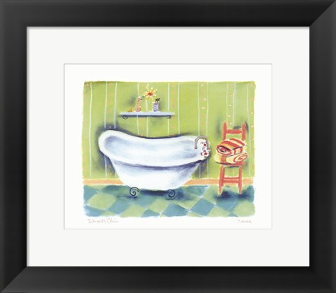 Framed Tub With Chair Print