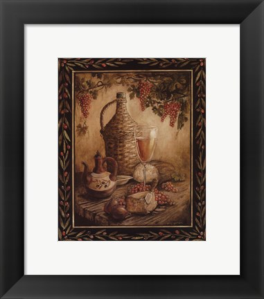 Framed Tuscan Table - Orvieto - Mini Print