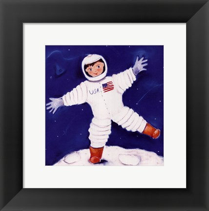 Framed One Foot On The Moon Print