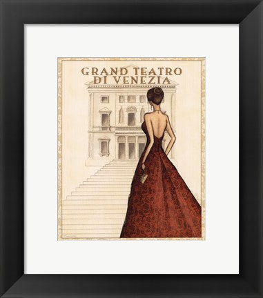 Framed Teatro - Mini Print