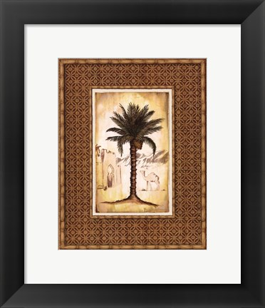 Framed South Palm I - Mini Print
