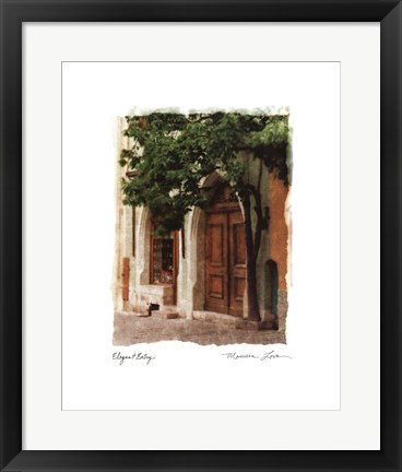 Framed Elegant Entry Print