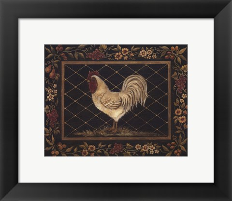 Framed Old World Rooster - Mini Print