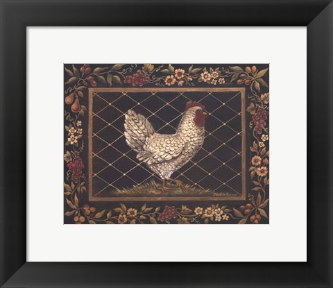 Framed Old World Hen - Mini Print