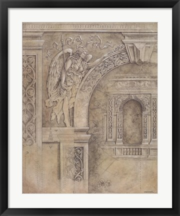 Framed Arch Spandrel #1 Print