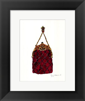 Framed Ballroom Dancing Purse Print