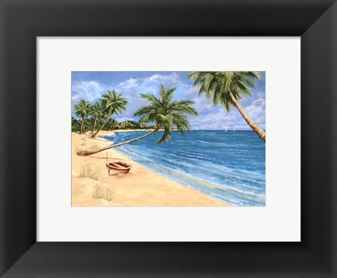 Framed Palm Beach Garden I Print