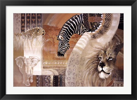 Framed African Colors Print