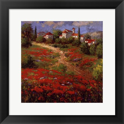 Framed Country Village II Print