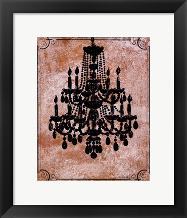 Framed Chandelier II Print