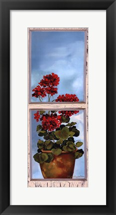 Framed Antique Window I Print