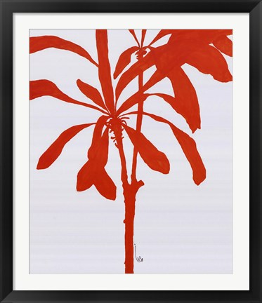 Framed Silhouette Of Palm 3 Print