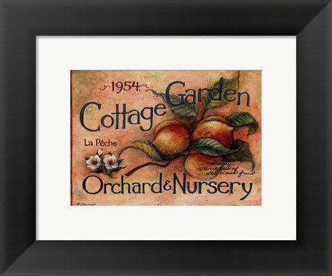 Framed Cottage Garden IV Print