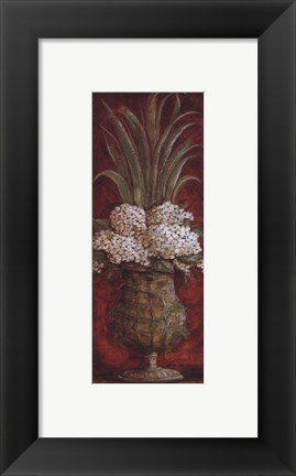 Framed Tall Red Floral I Print