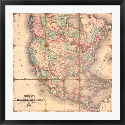 Framed American Republic,1842A Print