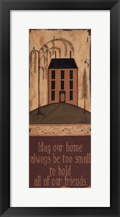 Framed May Our Home Print