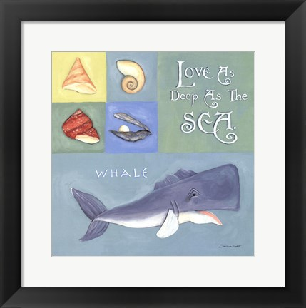 Framed Love As Deep As The Sea Print