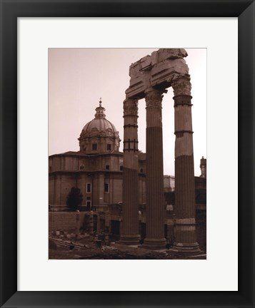 Framed Ancient Building With Cathedral Print