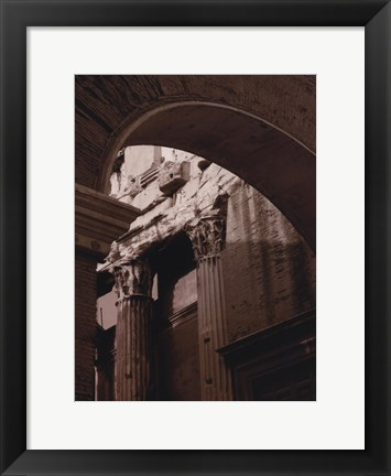 Framed Ancient Building With Archway Print