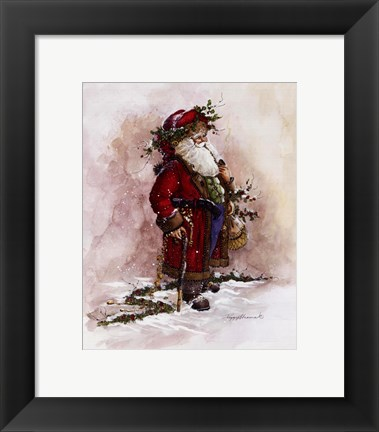 Framed Olde World Santa Print